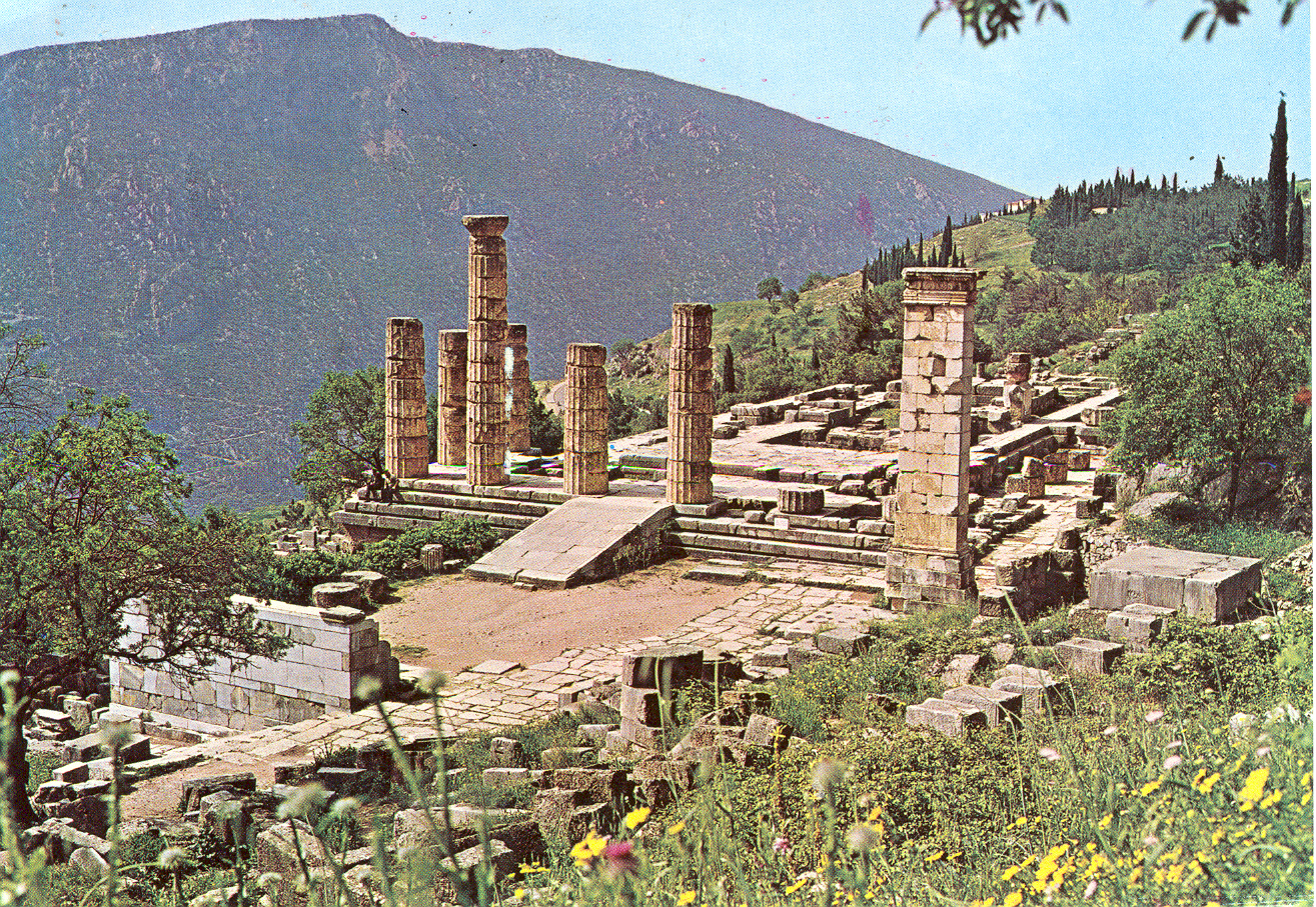 Mail from the Oracle of Delphi - Greece to the Fluxus Heidelberg Center - Tomato War