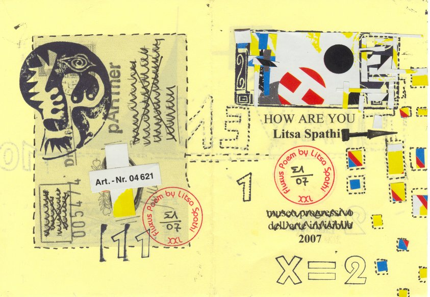 How are you Litsa Spathi - Fluxus Booklet - Visual Poetry