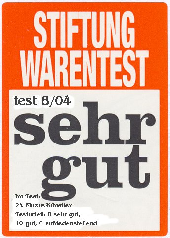 the original sticker by Stiftung Warentest